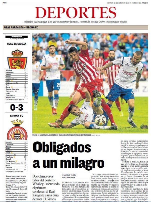 Zaragoza 0 - Girona 3
